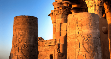 Columnas Templo de Kom Ombo