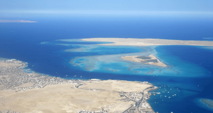 Vista aérea Isla Giftun