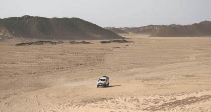 Vista del desierto Hurghada