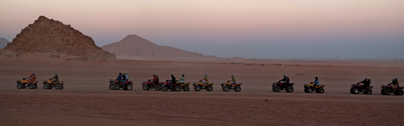 Sunset Desert Safari by Quad